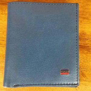 Levi Blue Leather Wallet